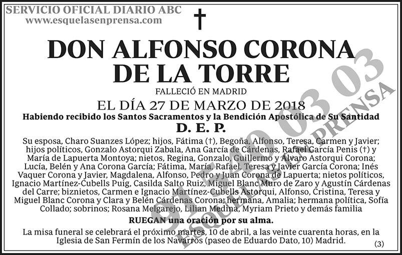 Alfonso Corona de la Torre